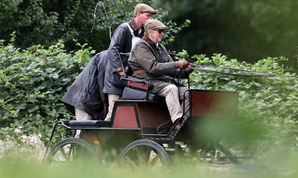 Philip of Edinburgh played by Jonathan Pryce.  Pictured: (Jonathan Pryce as the Prince. Pictured: (Stevenage)
