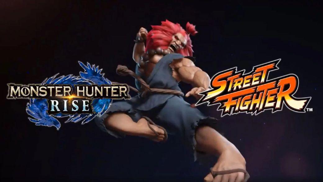 Monster Hunter Rise recibirá a Akuma, de Street Fighter