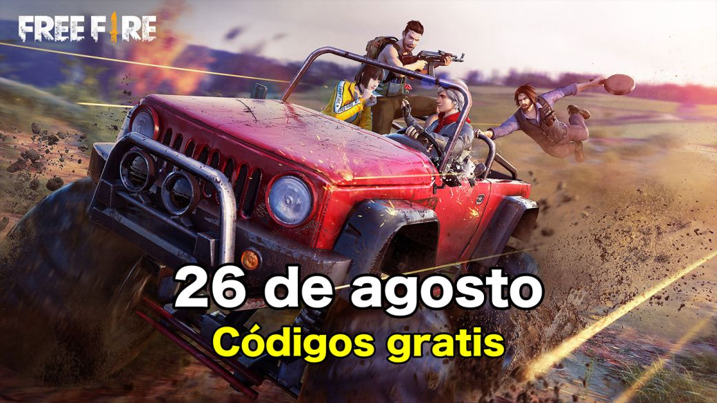 Today's Free Fire Codes August 26, 2021;  all free rewards