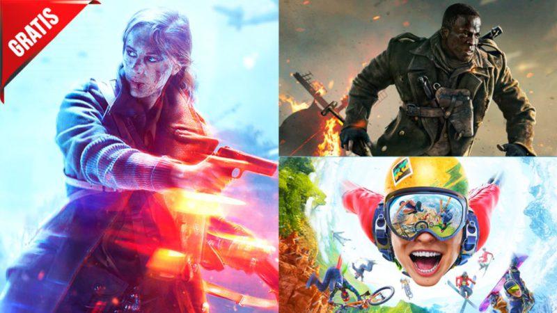 Juegos gratis COD Vanguard Riders Republic Battlefield V PC PS5 PS4 Xbox Series X