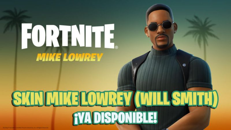 Will Smith in Fortnite;  this is Mike Lowrey's skin from Two Rebel Cops / Bad Boys