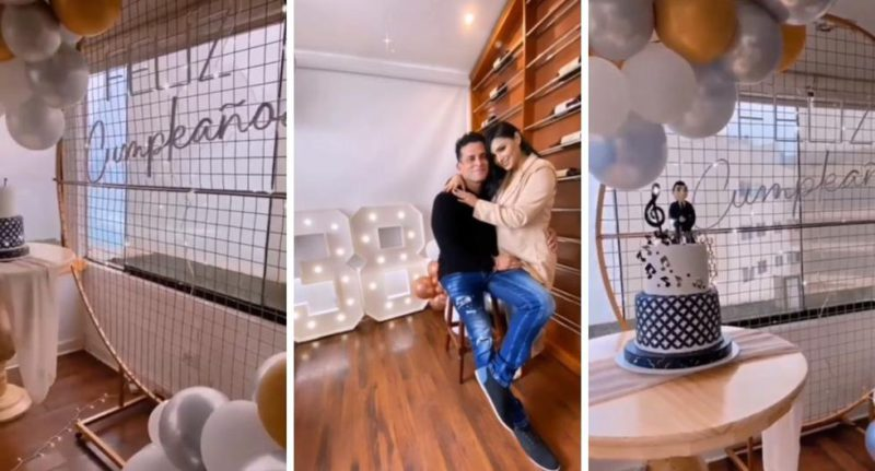 """Christian Domínguez to Pamela Franco for organizing a surprise meeting: """"Thank you for making me so happy"""" 