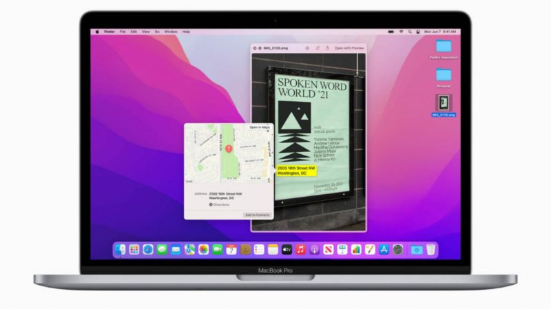 Apple has mercy: AI feature in macOS 12 Monterey also for Intel Macs