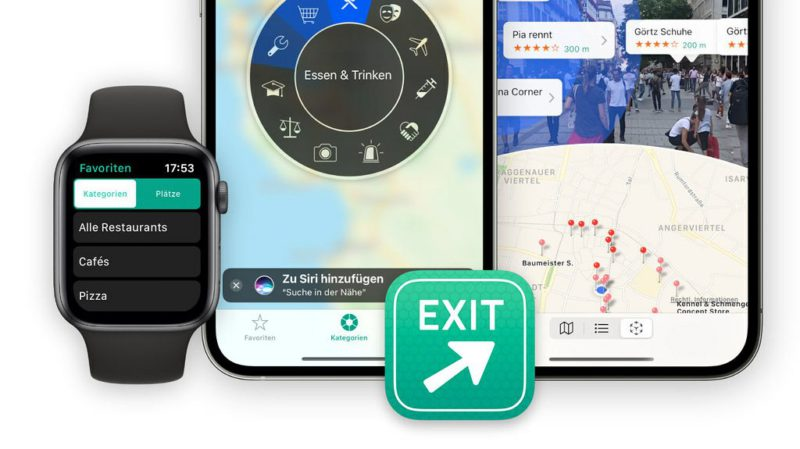 """Local search """"Where to?""""  with AR view, collections and dark mode"""