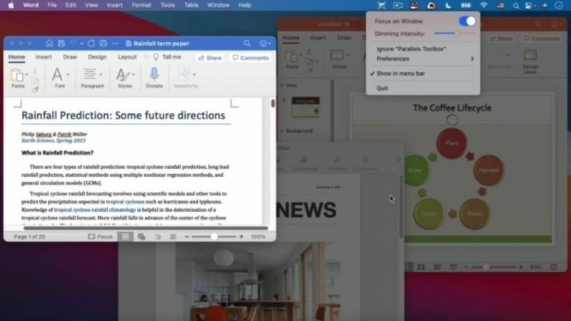 Parallels Toolbox 5: As a universal binary and a new user interface
