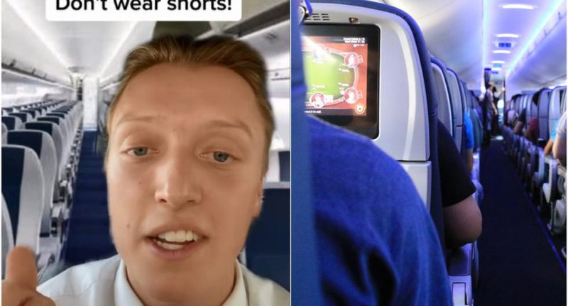 A flight attendant reveals why you should never wear shorts when traveling by plane