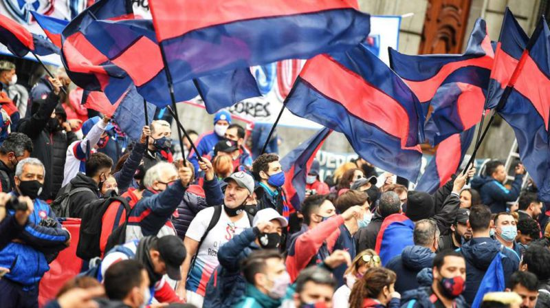 The Legislature of the City of Buenos Aires approved the construction of the San Lorenzo stadium in Boedo and the fans celebrated in the streets