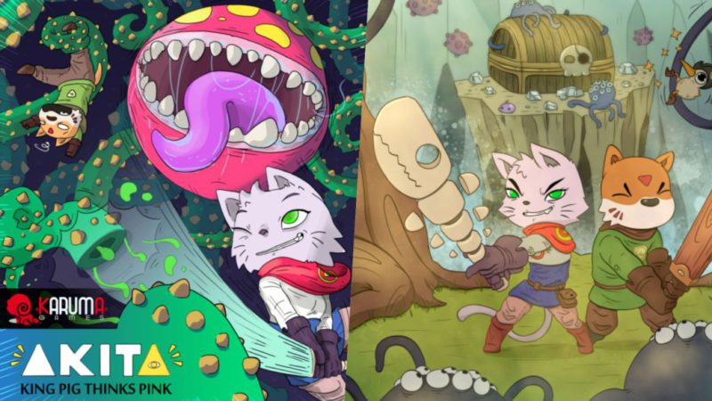 Akita: King Pig Thinks Pink: this is the new Spanish hand-drawn metroidvania