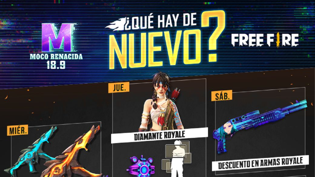 Free Fire: weekly schedule from September 8 to 13 with crazy revolver and diamond royale