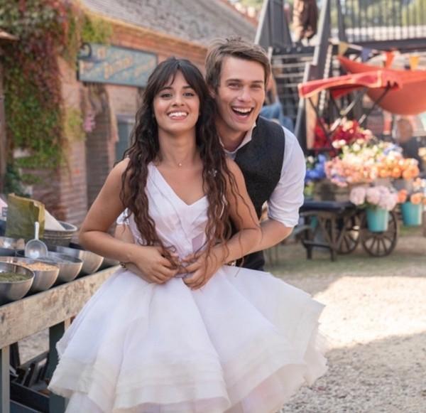 Nicholas Galitzine and Camila Cabello on set.  Photo: (Amazon Prime)