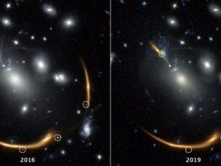 Gravitational lens: already observed Supernova 2037 again visible