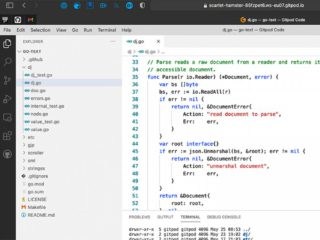 Finished development environment in the cloud with Gitpod