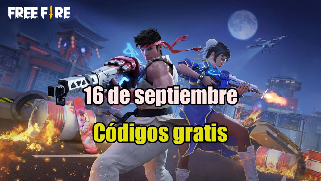 Today's Free Fire Codes September 16, 2021;  all free rewards