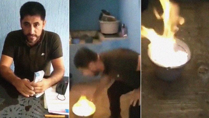 """""""Ahí está su dinero, cabrones mugrosos"""": Un profesor mexicano quema 50.000 dólares de un supuesto soborno"""