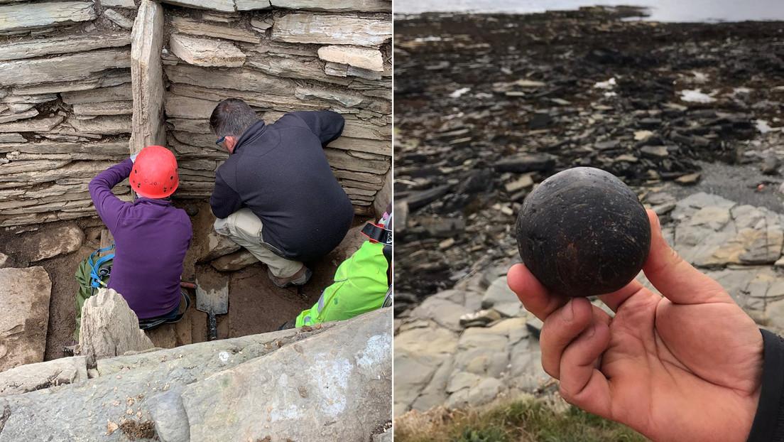 Arqueólogos hallan en Escocia dos misteriosas esferas de piedra dentro de una antigua pirámide