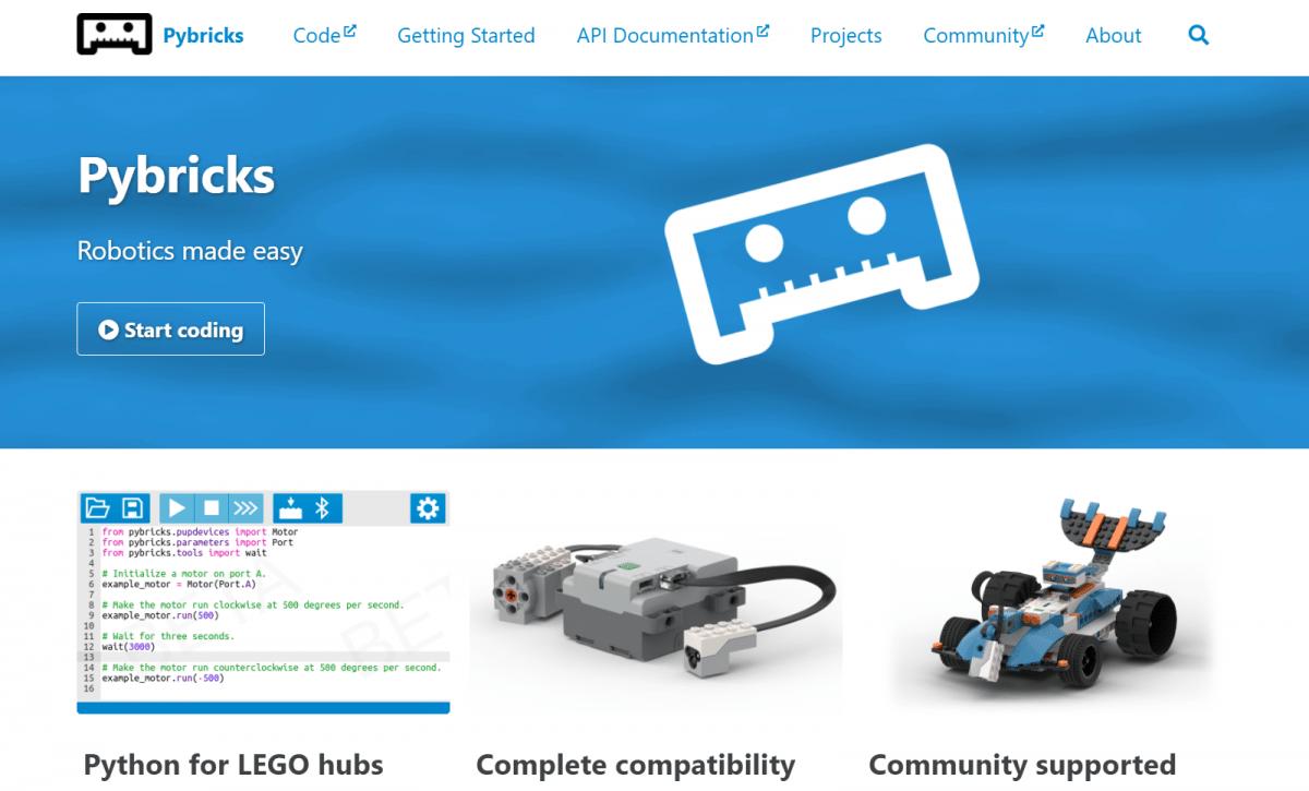 Pybricks: MicroPython for Lego robotics sets