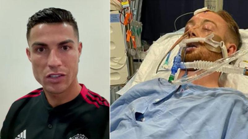 VIDEO: Cristiano Ronaldo envía un mensaje de apoyo a un futbolista que se encuentra en coma tras ser agredido en la calle