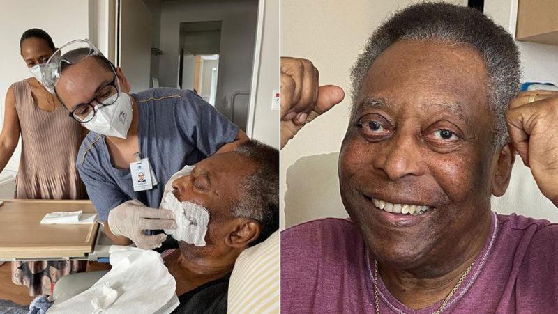 VIDEO: Pelé pedalea en bicicleta estática desde la cama del hospital tras ser operado por un tumor en el colon