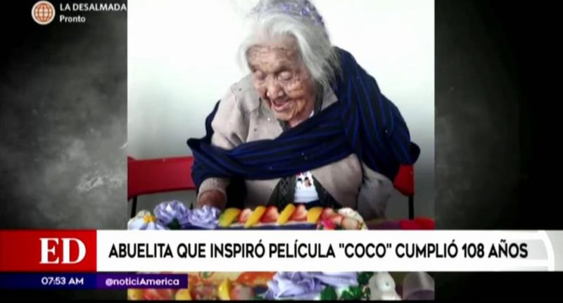 'Mama Coco' celebrated her 108th birthday with a cake of her character - MAG.
