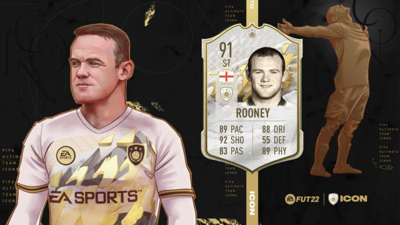 FIFA 22 welcomes Wayne Rooney, new icon of Ultimate Team