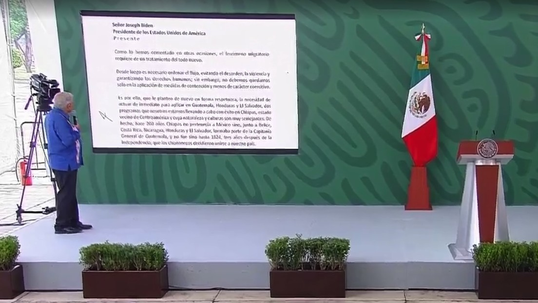 """López Obrador revela el contenido de la carta enviada a Biden para """"actuar con más urgencia"""" en Centroamérica"""