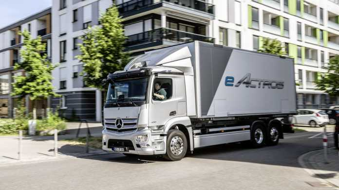 Electric truck Mercedes eActros