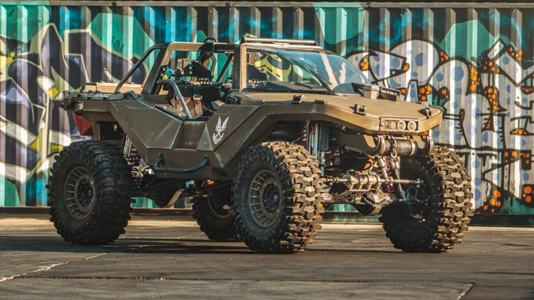Create fully functional, full-scale, brutal Halo Warthog with over 1,000 hp