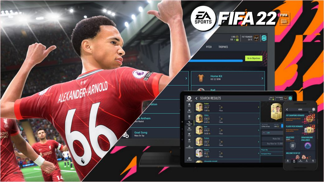 FIFA 22 EA Sports web app fecha lanzamiento companion app