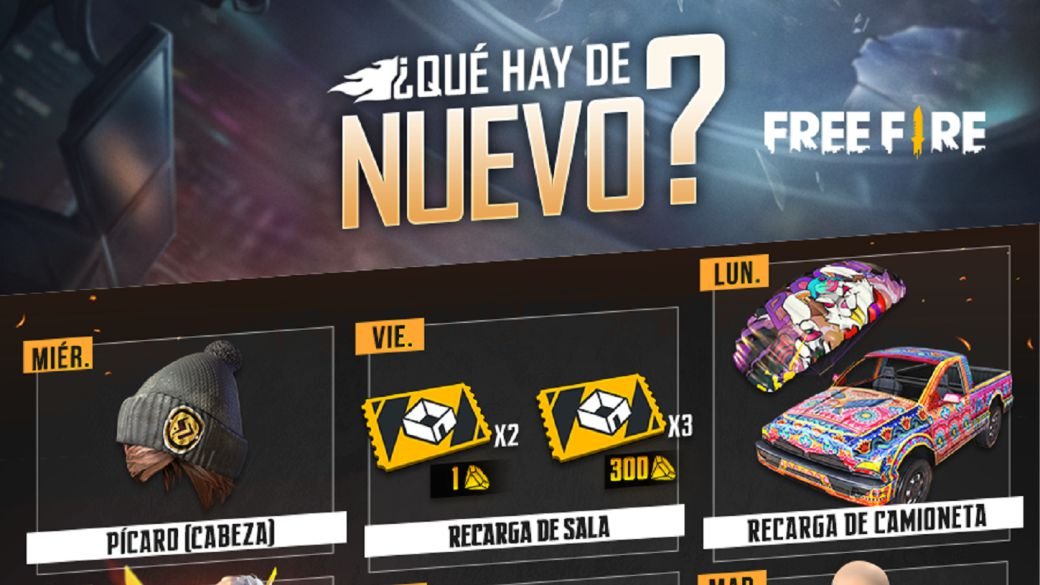 Free Fire: weekly schedule from September 22 to 28 with room recharge and flash eye