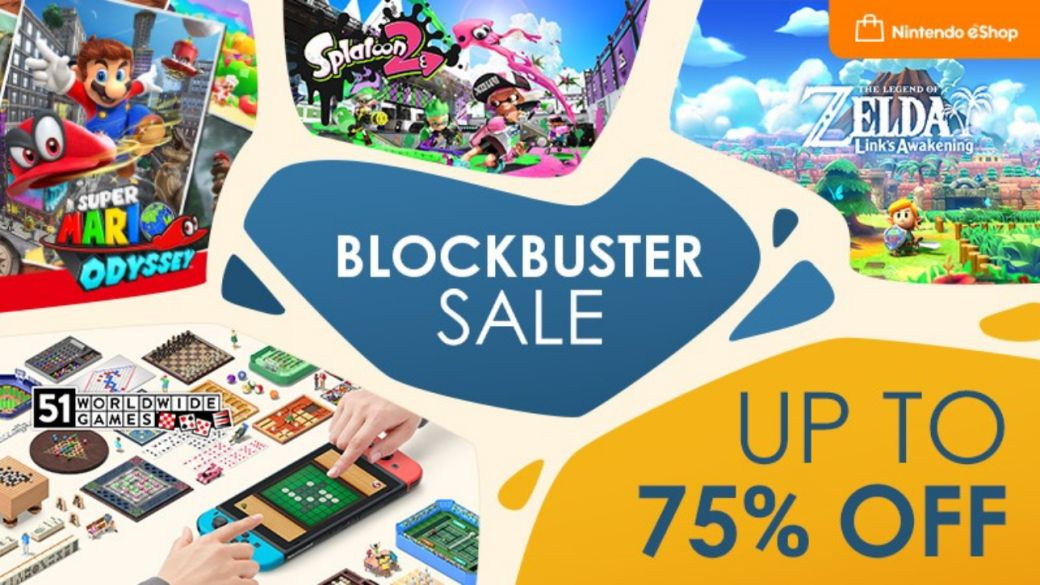 Nintendo Switch offers: more than 300 games with up to 75% discount