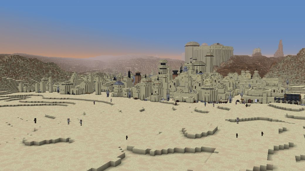 Star Wars in Minecraft: a fan is building the entire galaxy in the game