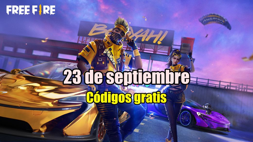 Today's Free Fire Codes September 23, 2021;  all free rewards