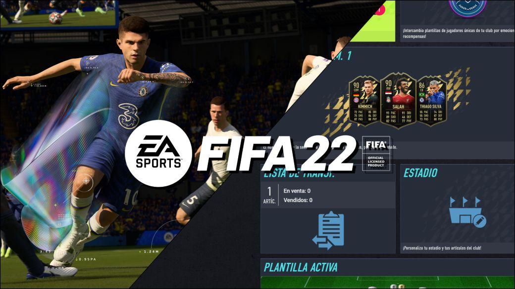 FIFA 22 EA Sports web app ya disponible companion app cuándo