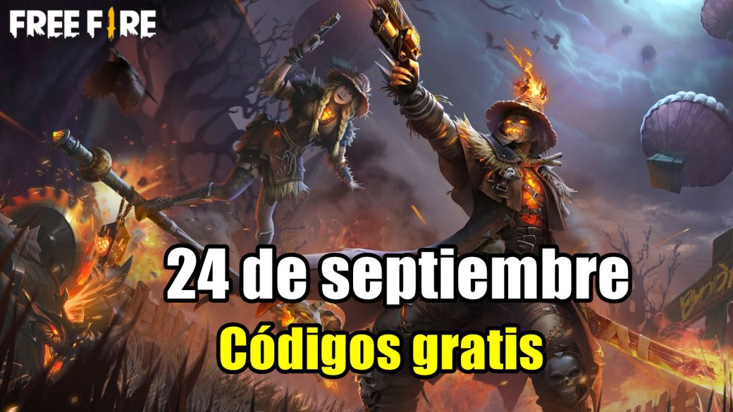 Today's Free Fire Codes September 24, 2021;  all free rewards