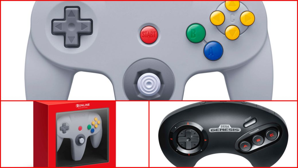 Nintendo 64 and Mega Drive controllers for Switch will have additional buttons
