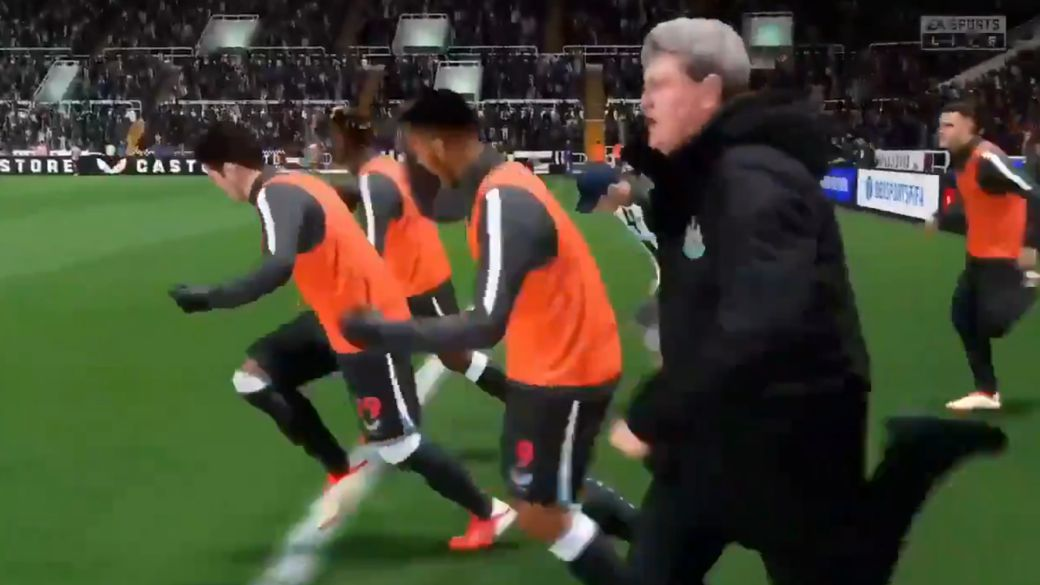 A Newcastle player wonders why his coach has a 99 in FIFA
