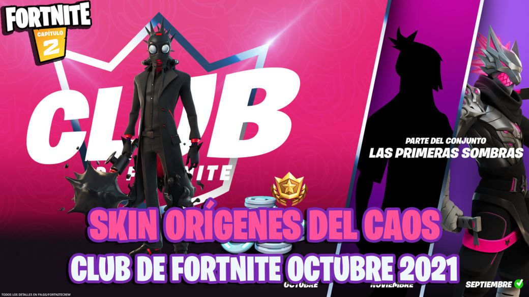 This is the Origins of Chaos skin from the Fortnite Club of October 2021