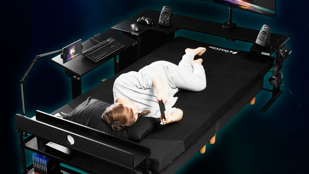 This is the new gamer mattress designed in Japan: rest and play in total comfort