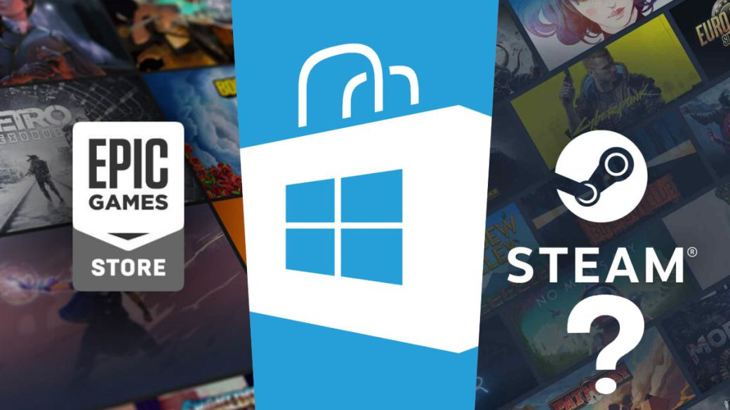 """Steam on the Microsoft Store?  Epic Games Store and Amazon have already given the """"yes I want"""""""