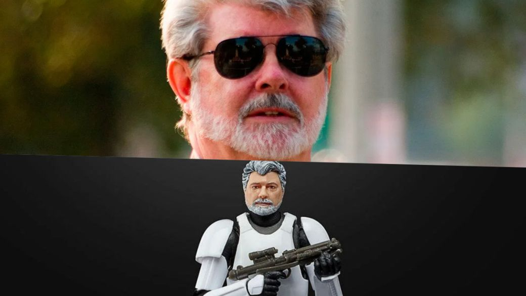 George Lucas becomes a stormtrooper figure, do you want to see what he is like?