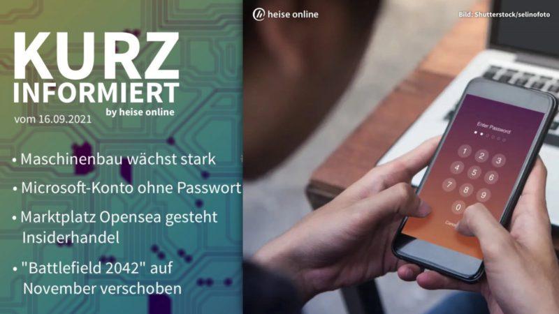 Briefly informed: Maschinenbau, Microsoft, Opensea, Battlefield 2042