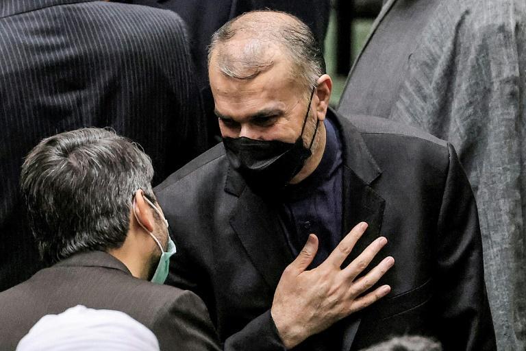 El ministro de Asuntos Exteriores iraní, Hosein Amir Abdollahian, en el Parlamento en agosto de 2021, viajará a la Asamblea General de la ONU en el debut diplomático del nuevo gobierno ultraconservador (AFP/ATTA KENARE)
