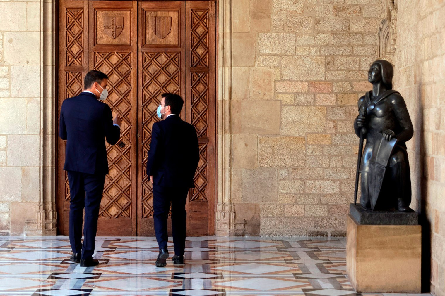 ERC prepared the reception of Sánchez denouncing Spain to the UN for prosecuting the crime of sedition