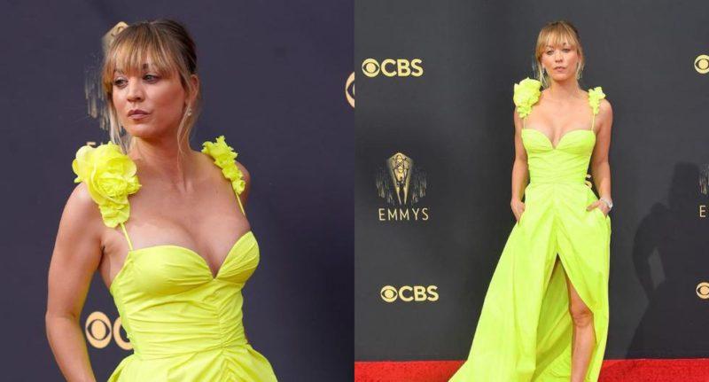 Emmy Awards 2021: Kaley Cuoco on the red carpet    PHOTOS
