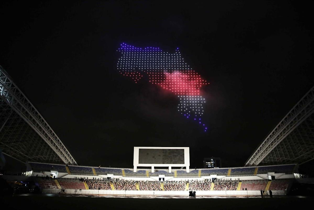 Intel drones lit up the sky at the bicentennial celebration in Costa Rica