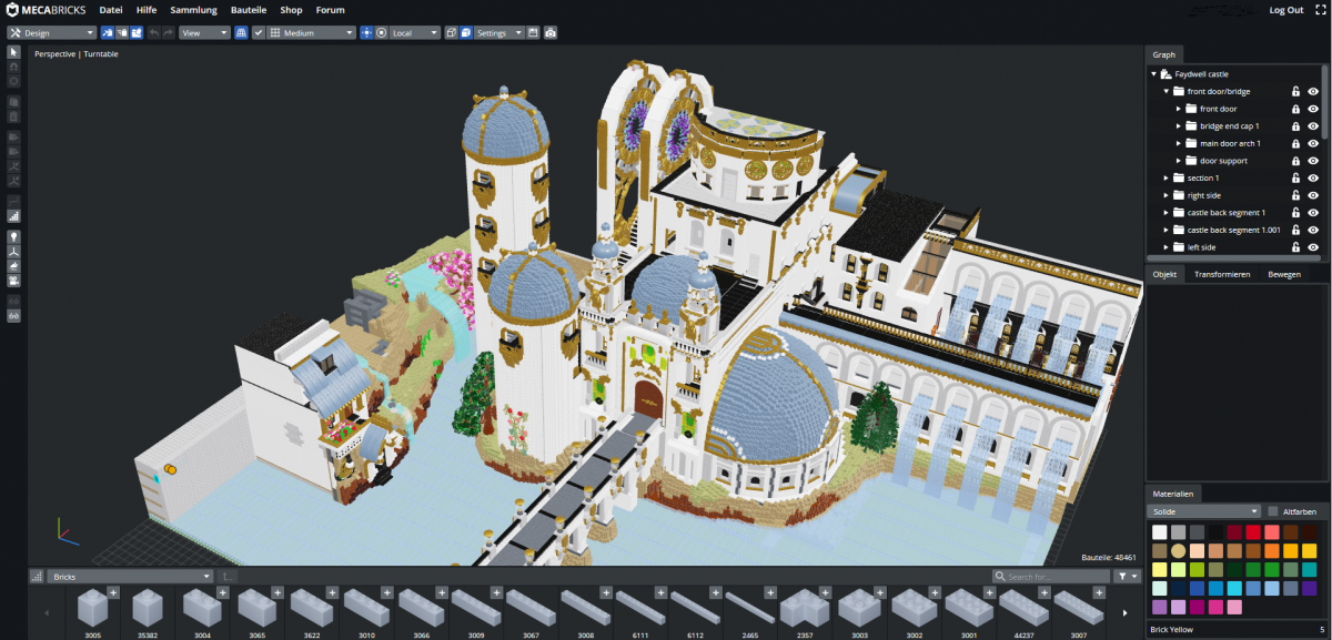 Mecabricks: Construct virtual Lego models in the browser
