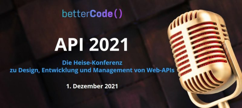 Online conference on API development: betterCode () API on December 1st, 2021