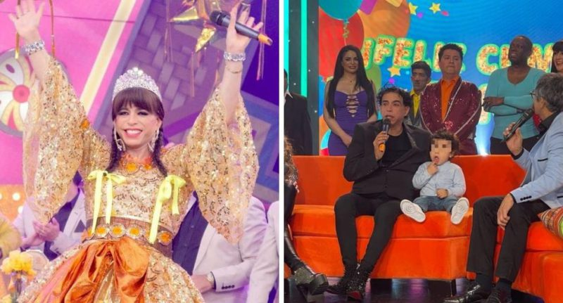 """Ernesto Pimentel was surprised by his 2-year-old son on the set of """"El Reventonazo"""""""
