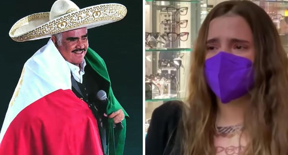 """Vicente Fernández's granddaughter cries when talking about her grandfather: """"Pray a lot for him"""""""