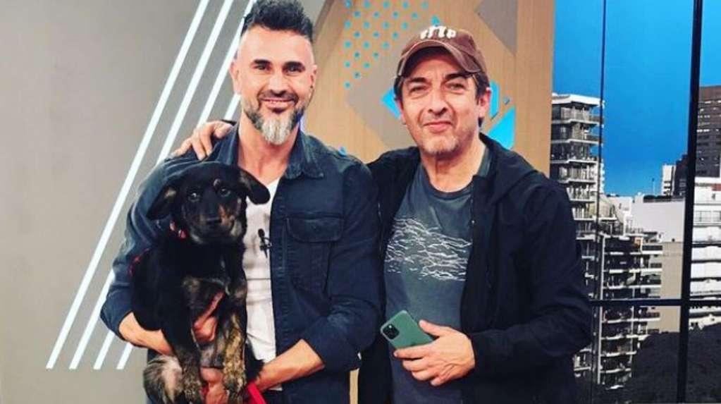 Ricardo Darín broke into Leo Montero's program with a dog that he saved on the street